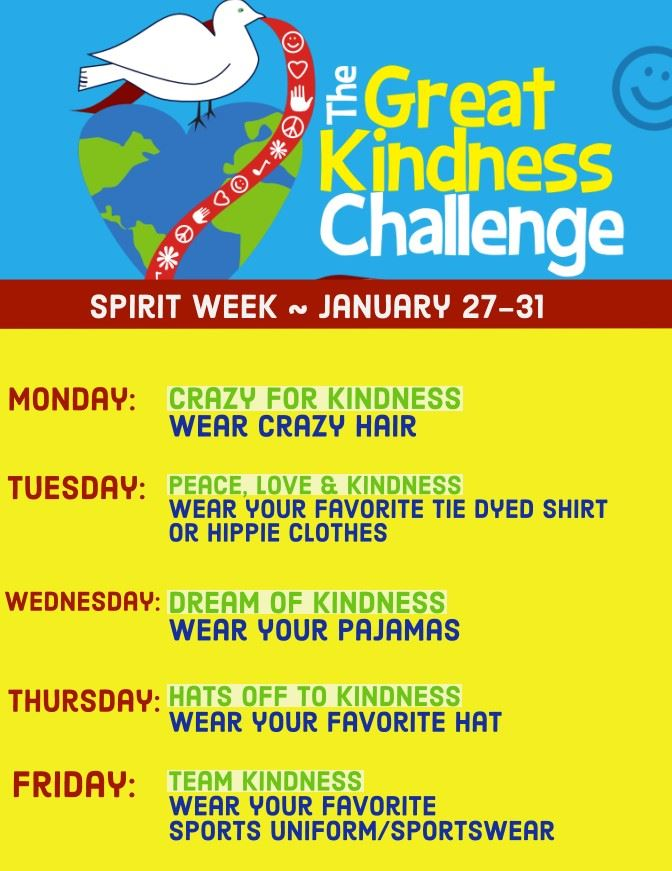 The Great Kindness Challenge, Jan. 27-31