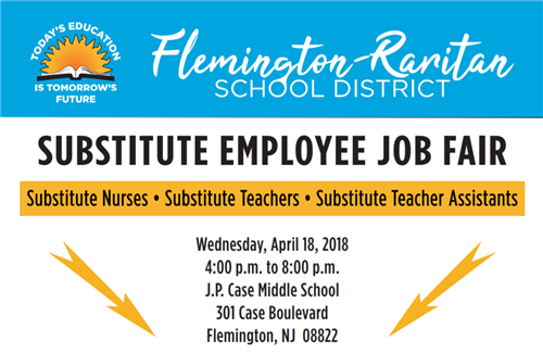 substitute employee job fair - january 10