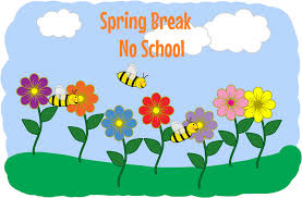 School will be closed April 19-24...Students Return Thursday, April 25th..April 25 & 26 EARLY DISMISSAL DAY.  Monday, April 29th- REGULAR DAY