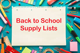 Student Supply List for 2018-2019