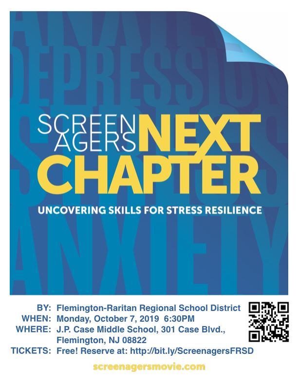 October 7: Screenagers' Next Chapter--Uncovering Skills for Stress Resilience. Register today!