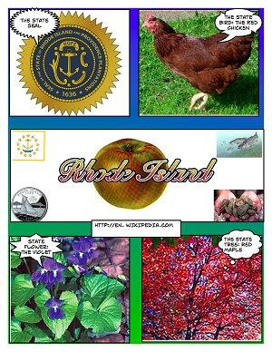 RI State Symbols Comic