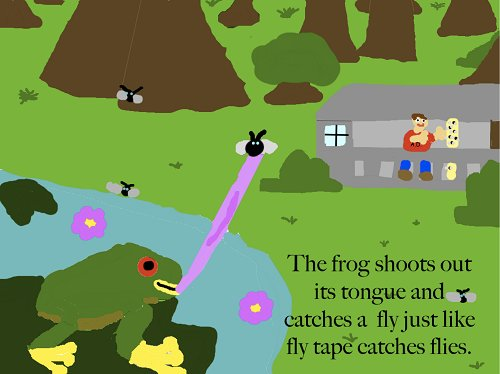 Frog Tongue Fly Tape